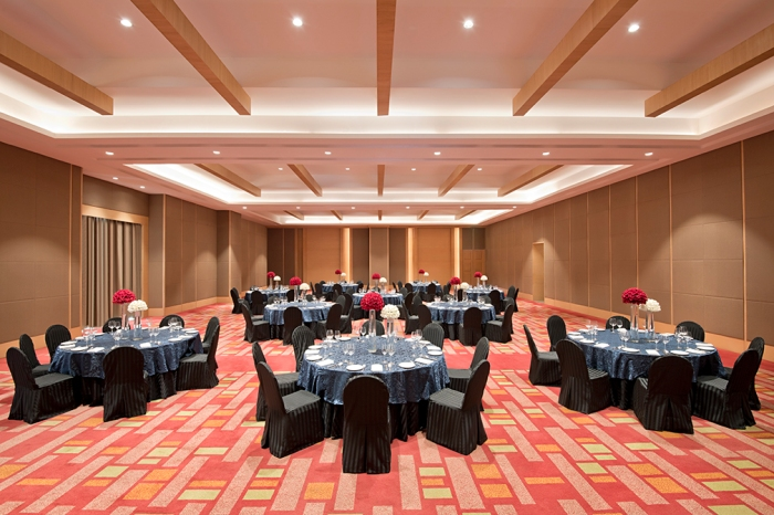 Hyatt Regency Lucknow Ballroom Cluster Setup