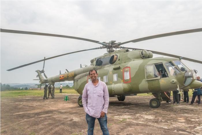 MI 17 Rusian helicopter Bahubali Uganda Africa