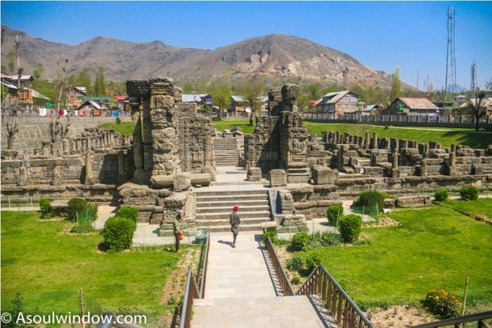 Awanti Swami Mandir Avantipur Hindu temple Srinagar Jammu Kashmir