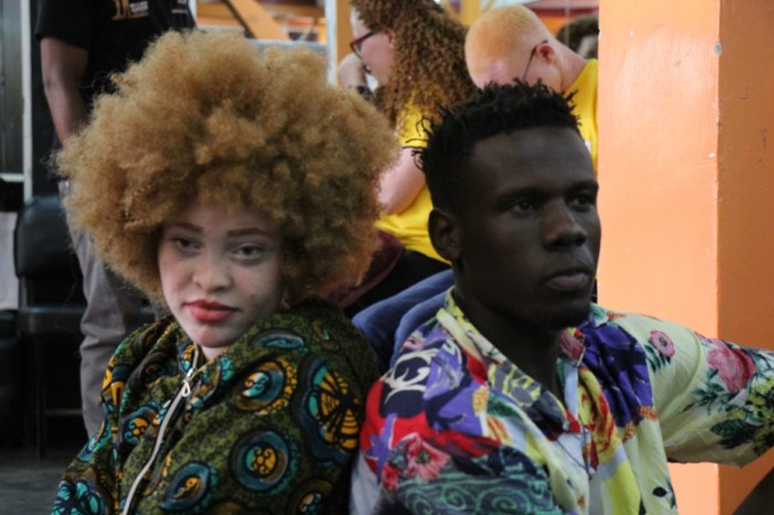 Beyond colour George Okurut social media influncer Pats Journal in a photoshot with MarryAnn Miss albinism kenya and east Africa