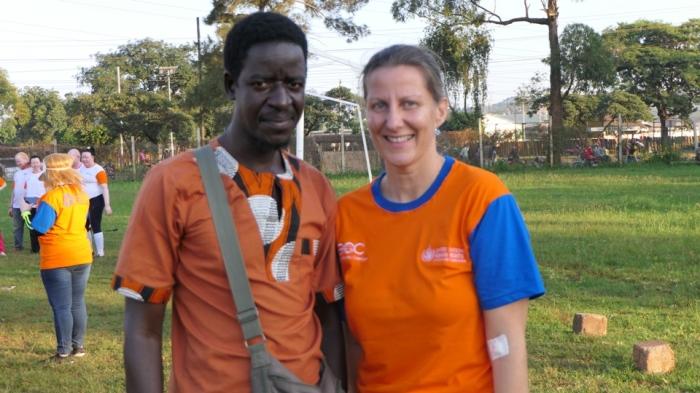 pat and Nicole fron UN Human Rights Ugandan
