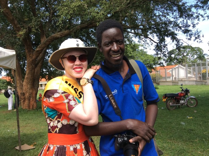 Pat and Olive Auma Miss Albinism Uganda