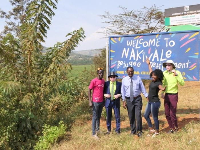 Pat, Peter, Dr Ngobi, Olive and Edmund after a skin cancer clinic at Nakivale Refuguee settlement Camp